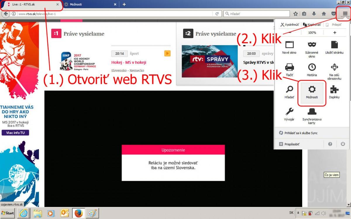 cf54a6eb92 Ako sledovať MS v hokeji na STV (ČT) zo zahraničia cez internet ...